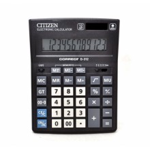 Калькулятор Citizen Correct 12р D-312
